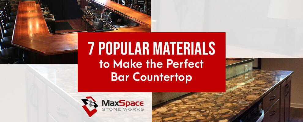 7 Popular Bar Countertop Materials